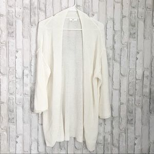 BP White Knit Open Front Cardigan Lightweight XS